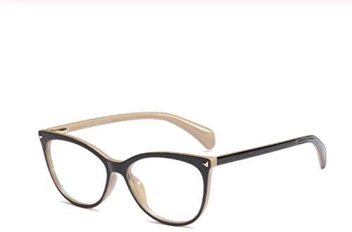 PJPPJH Glasses Fram Eyeweare Art Fashion Comfortable Rivet Cat Eye Square Glasses Frames Men Women Fashion Computer Glasses Eyewear Frames Fashion Women Accessories Gift