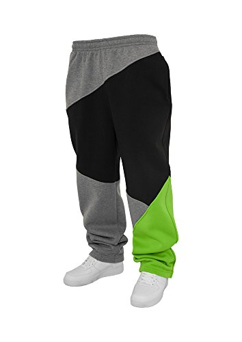Urban Classics Zig Zag Pantalon Sweat Grey/Noir/L