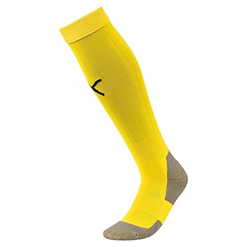 Puma Liga Socks Core, Calcetines para Hombre, Amarillo (Cyber Yellow/Black), 39-42 (Talla del fabricante: 3)