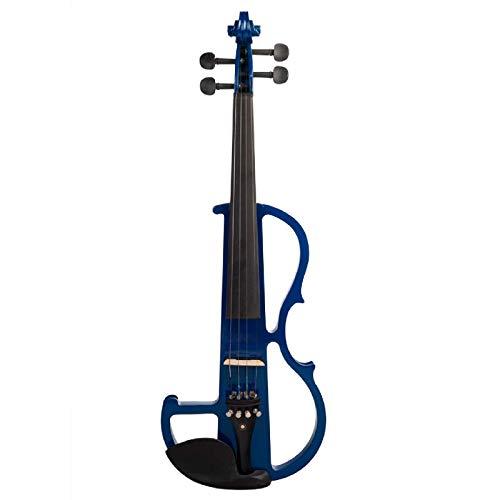 Violín violín tamaño completo 4/4 madera maciza violín eléctrico tilo cuerpo ébano...