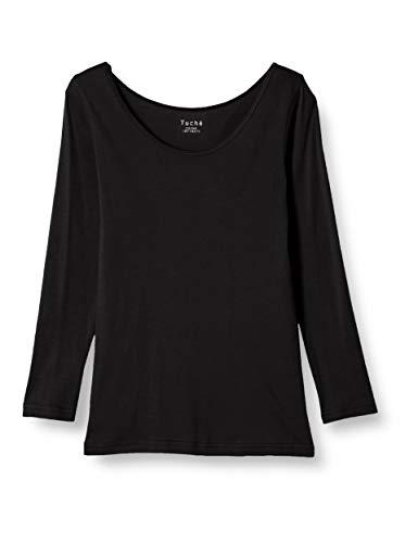[グンゼ] インナー Tuche トゥシェ INTIMATE 着るコスメ 綿100% 8分袖 TC4046 レディース ブラック 日本M (日本サイズM相当)