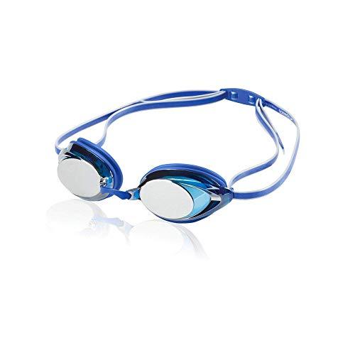 Speedo Unisex-Adult Swim Goggles Mirrored Vanquisher 2.0 , Blue