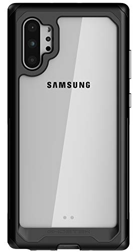 Ghostek Atomic Slim Galaxy Note 10 Plus Case Clear Metal Bumper Phone Cover Heavy-Duty Protection Wireless Charging Compatible for 2019 Samsung Galaxy Note 10+ Plus and Note 10+ 5G (6.8 Inch) - Black