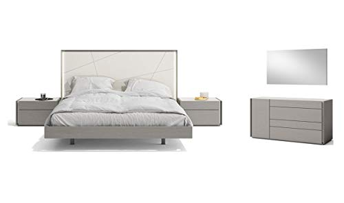Find Discount Sintra Premium King Bedroom Set in Grey, 5 Piece