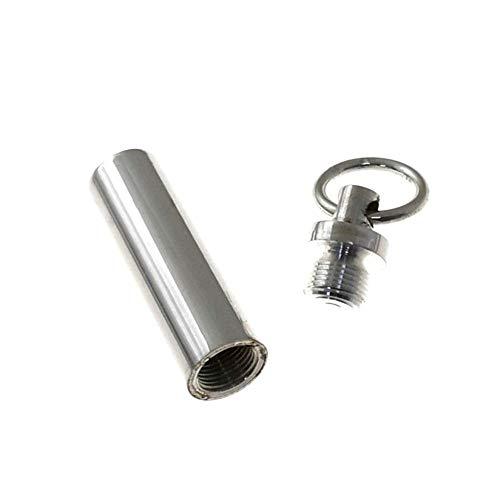 925m Silber Anhänger Asche schützen 32mm Act. Glattrohrgewinde Steck