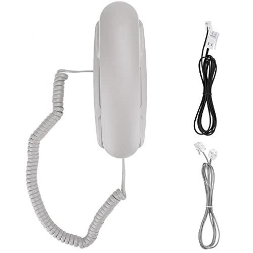 Mini TELÉFONO TELÉFONO Home TELÉFONO DE TELÉFONO DE Marca Montaje DE LA Pared Asistencia Funcional DE Apoyo Funciona DE RELAJE para EL Hotel DE Oficina del HOGAR (Color : White)