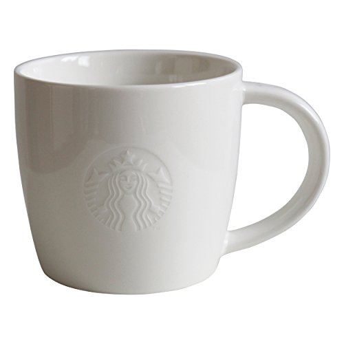 Starbucks Kaffeetasse Weiss Tasse Coffee Cup Mug Classic White Collectors 12oz