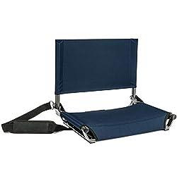 Cascade Mountain Tech Lightweight Folding Portable Stadium Seats with Shoulder Strap
