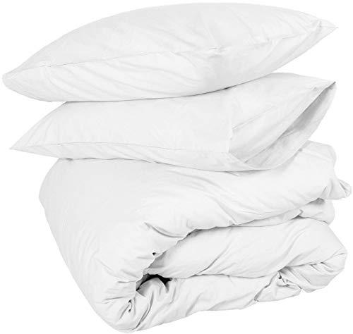 Duvet Cover set King Oversize 120X98 White Comforter Cover Bedding 3 Pieces Duvet Set (1 Duvet Cover + 2 Pillow Covers) 400 Thread Count Zipper Closure Duvet Cover(Oversize King 120X98, White Solid)