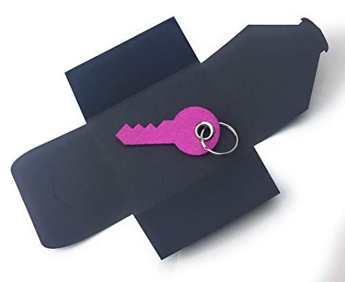 filzschneider Schlüsselanhänger aus Filz - Haus-Tür-Schlüssel/Key - pink - als besonderes Geschenk