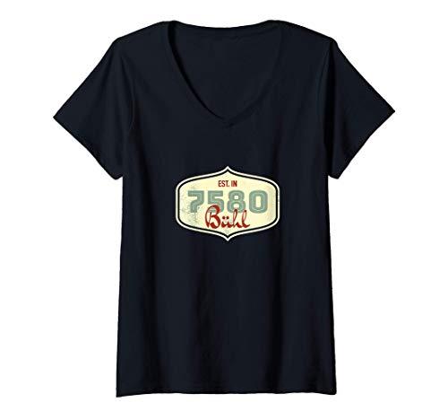 Damen 7580 Bühl - Alte Postleitzahl - Geschenk T-Shirt mit V-Ausschnitt