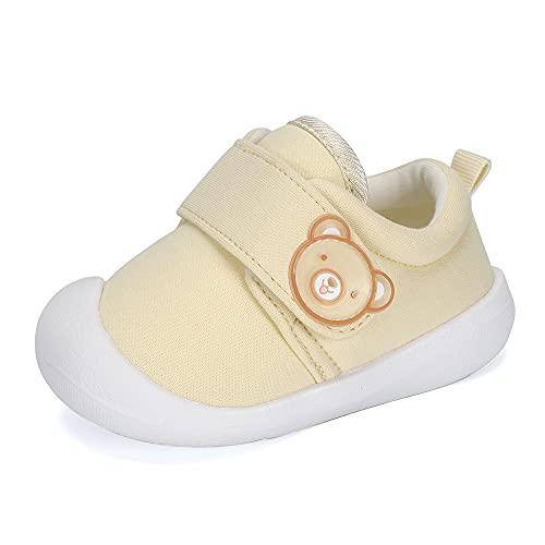MASOCIO Zapatos Bebe Niña Niño Primeros Pasos Zapatillas Bebé Deportivas Antideslizante Talla 19 Beige