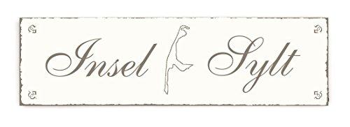 SCHILD Türschild « INSEL SYLT » Shabby Vintage Holzschild Dekoschild Dekoration Gastronomie Urlaub Reisen