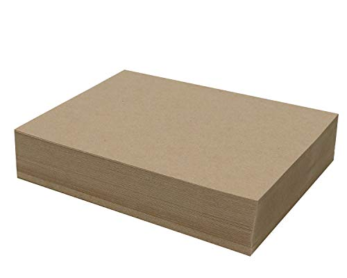 100 Chipboard Sheets 9 x 12 inch - 22pt (Point) Light Weight Brown Kraft Cardboard for Scrapbooking & Picture Frame Backing (.022 Caliper Thick) Paper Board | MagicWater Supply