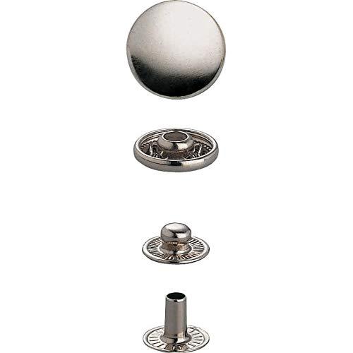 Prym 390321 Nachfüllp. für 390301 Nähfrei-Druckknopf Anorak Messing 15 mm silberfarbig, Metal
