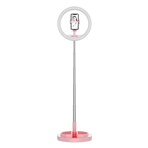 Zwbfu 10 Pulgadas Selfie Ring Light Luz de rellede lámpara LED Circular Plegable con Soporte Soporte Giratorio de 360 Grados para teléfo3 Modos de luz para fotografía de Maquillaje Grabación de Video