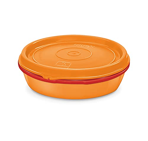 Milton Microwow Stainless Steel Lunch Container, 200 ml, Orange