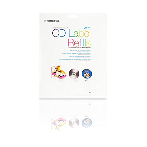 20-labels White Photo Gloss CD Labels 1440dpi for Inkjets