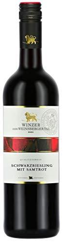 Württemberger Wein Weinsberger Tal Schwarzriesling mit Samtrot QW halbtrocken (1 x 0.75 l)