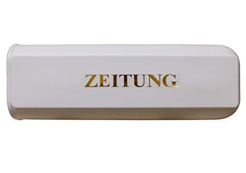 Zeitungsbox aus hochwertigem Kunststoff mit Befestigungslaschen (Weiß)