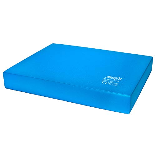 "SPRI Airex Balance Pad Foam Balance Board Stability Cushion Exercise Trainer for Physical Therapy, Rehabilitation and Core Strength Training, Regular, Blue (30-1910), 16 x 20-2.5"" Thick"