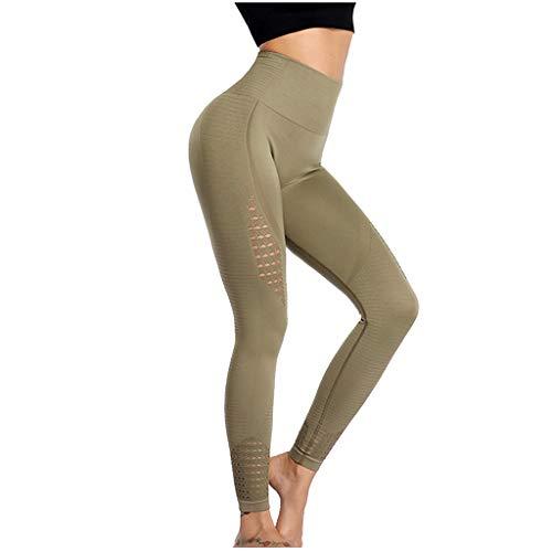 Pantalon de Fitness, YUYOUG Pêche Hip Fitness Pantalon Femelle Haute élastique Sport Collants à séchage Rapide en Cours d'exécution d'entraînement Taille Haute Pantalons d'yoga
