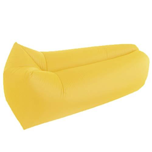 XUE-SHELF Aufblasbares Sofa im Freien beweglichen Wasser-Beweis-Anti-Air Undichte Lounger Air Sofa Hängesessel für einen Pool, Strand, Partys Reisen, Camping, Wandern, Picknick,Gelb