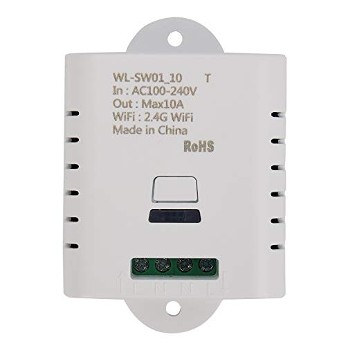 Uniquk Relé de Interruptor Inteligente Wifi 10A AplicacióN de Vida Inteligente Tuya el Control Remoto InaláMbrico Funciona con Alexa Ifttt Casa