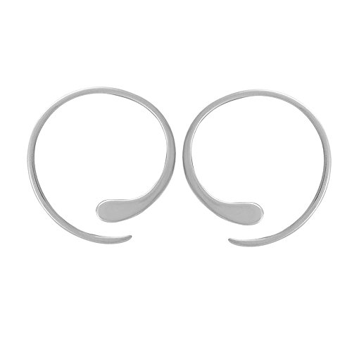 Boma Jewelry Sterling Silver Pull Through Hoop Earrings