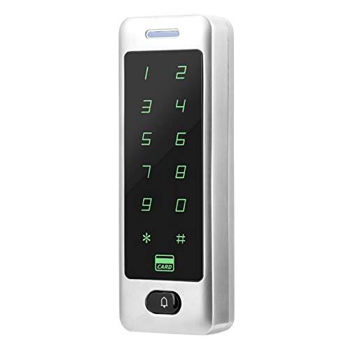 Control de acceso de puerta con contraseña de metal ZK-FP400E Lector de controlador de acceso Controlador de acceso táctil Nuevo diseño de apariencia de metal, Oficina