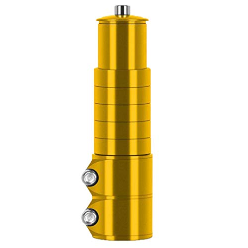 MZRI Vertical Front Fork Head Pipe Heightening Device of Mountain Bike Handle 12cm (Yellow)