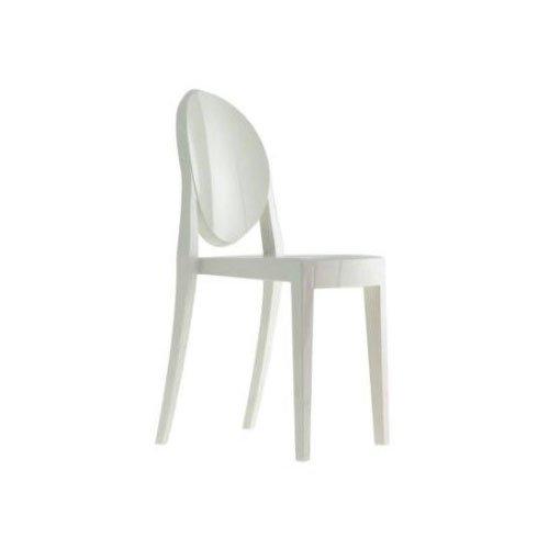 Kartell 4857E5 Chaise Victoria Ghost (Blanc brillant)