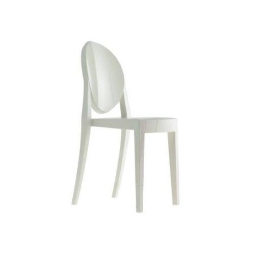 Kartell 4857E5 Victoria Ghost - Silla, color blanco brillante (1 unidad)