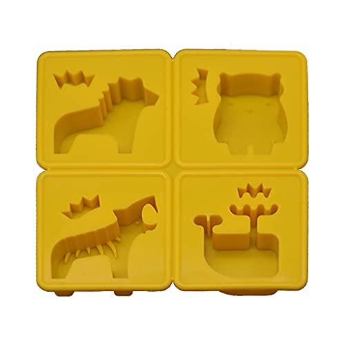 BAOKAJIXIRY - Molde de resina epoxi para aromaterapia, diseño de oso de ballena y perro rugido, molde de silicona para hacer joyas, manualidades, decoración casera