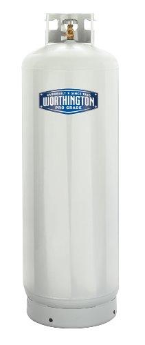 Worthington 303953 100-Pound Steel Propane Cylinder With 10% Valve And Collar
