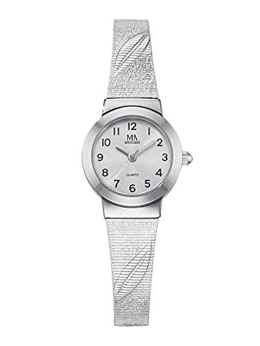 Meister Anker Damen Uhr in Silberfarben mit Armband in Silberfarben aus Metall