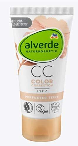 CC Cream Color Correction - Perfekter Teint - Naturkosmetik - Kaschiert Fältchen und Hautunebenheiten - UVA/UVB-Schutz - LSF 6 - 50 ml