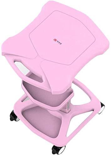 Beauty Equipment mand met handvat en wielen, business service, veelzijdig inzetbaar, voor cosmeticasalon Barber Shop, roze (kleur: roze, maat: 46 cm, 38 cm, 73 cm) Elise