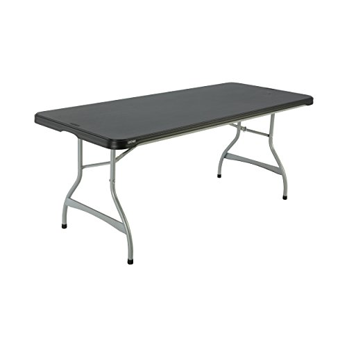 Lifetime Products 280350 Commercial Stacking Folding Table, 6', Black
