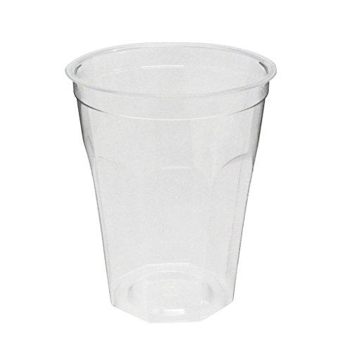 旭化成パックス (デザイン)透明プラカップ40個入り 13オンス(満杯容量390ML 推奨容量300ML)CIP-392D 口径8.8cm