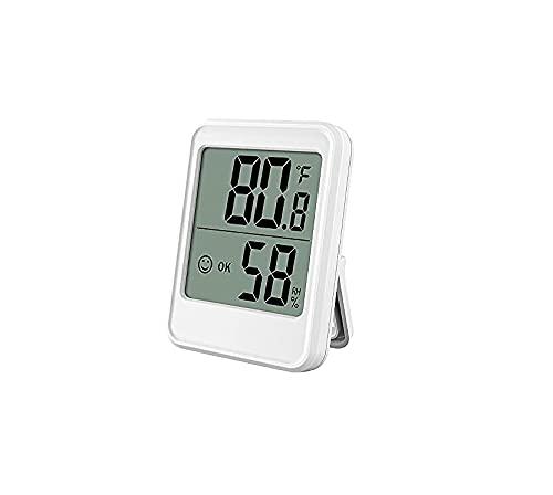 Mini termómetro digital e higrómetro, medidor de humedad y temperatura con pantalla LCD ℃/℉ conmutable para el hogar, oficina, cuarto de bebé comodidad