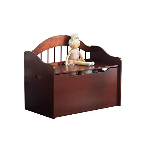 Large Elegant Wooden Toy Box for Kids