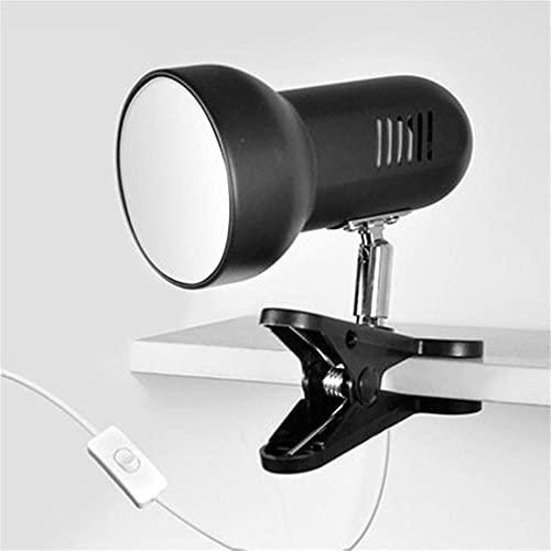 RPEIXYA Black e27 Dormitory Lamp Clamp DIY Lamp Frame Replaceable Light Light Light LED Lamp Clamp Reading Light Black