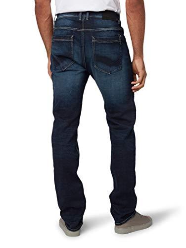 TOM TAILOR Herren Jeanshosen Trad Relaxed Jeans Dark Stone wash Denim,32/32,10282,6000