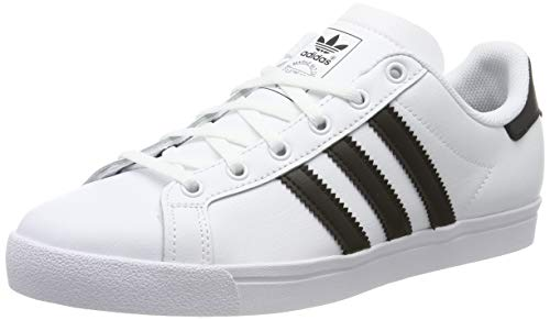 adidas Coast Star J, Chaussures de Gymnastique, Blanc (FTWR White/Core Black/FTWR White FTWR White/Core Black/FTWR White), 35.5 EU
