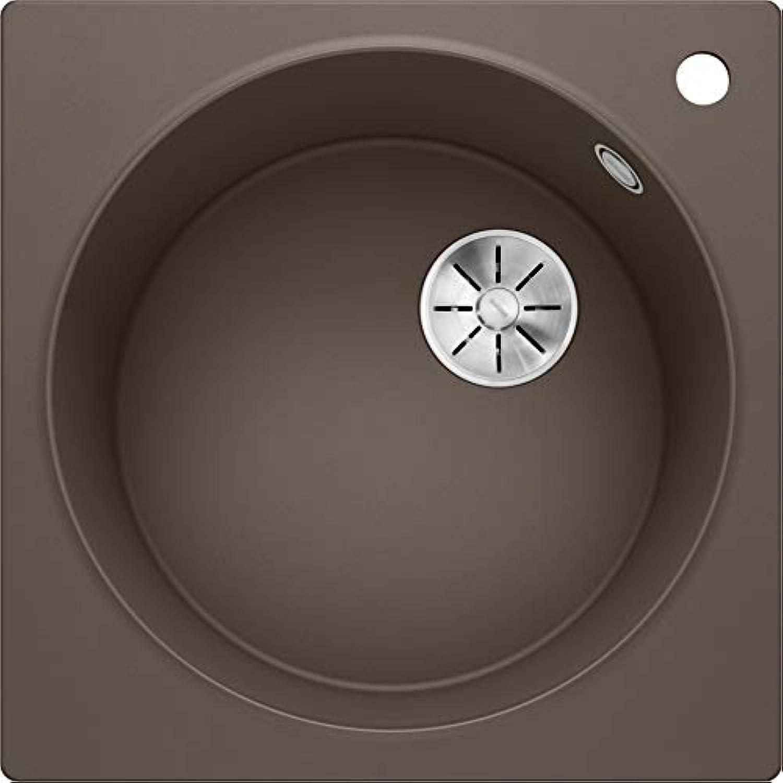 Weiß Artago 6, exklusive Rundbecken-Spüle aus Silgranit PuraDur, reversibel, Cafe   mit InFino-Ablaufsystem, ohne Ablauffernbedienung; 521765