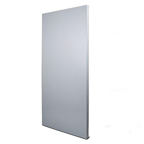 banjado Design Magnettafel grau | Wandtafel magnetisch 37x78cm groß | Metall Pinnwand | Memoboard mit Magneten und Montageset