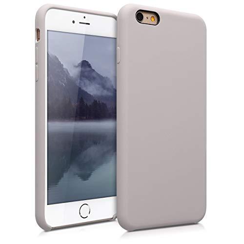 kwmobile Hülle kompatibel mit Apple iPhone 6 Plus / 6S Plus - Handyhülle gummiert - Handy Case in Helltaupe