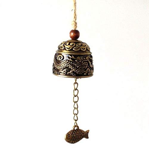 Campana retro auspiciosa de Yunnan, Lijiang., metal, dragón