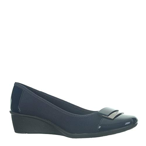 Anne Klein Ak Women's Waverly 2 Navy Fabric 7.5 B(M) US